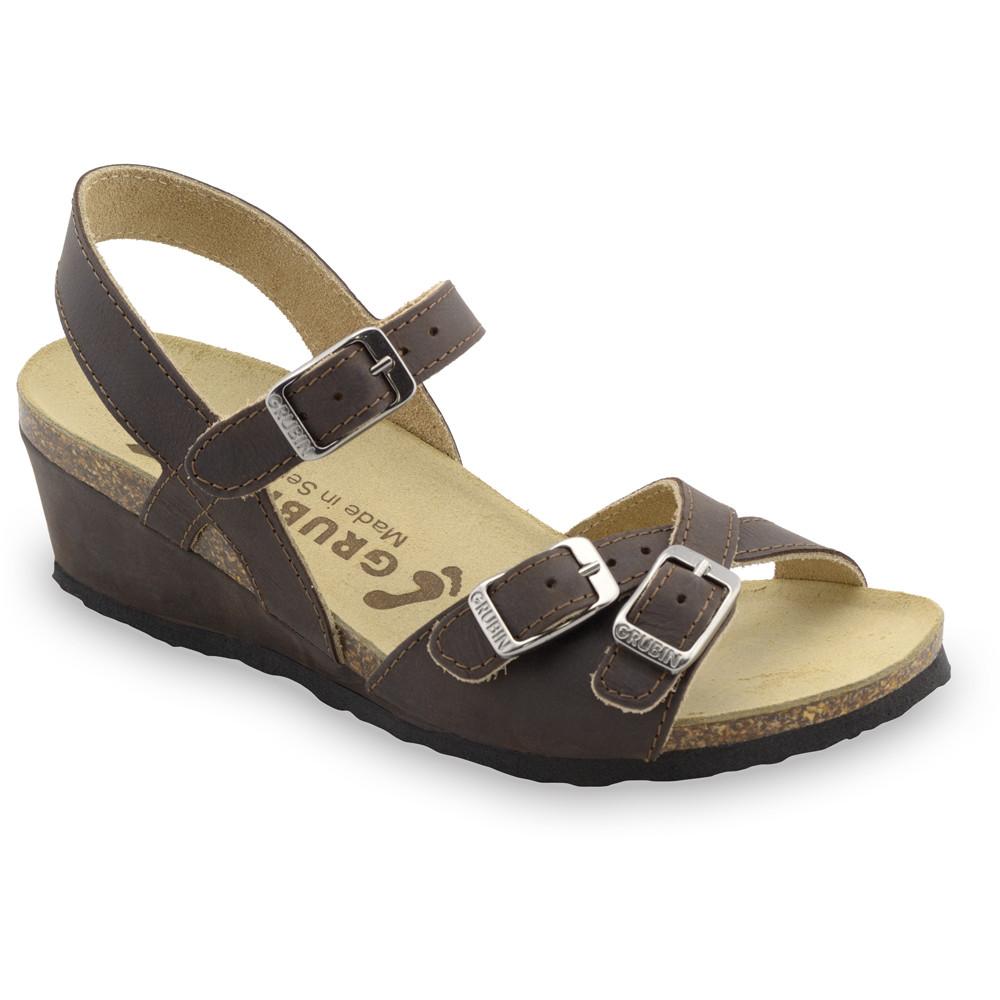 ILIRIJA sandále pre dámy - koža (36-42) - hnedá, 41