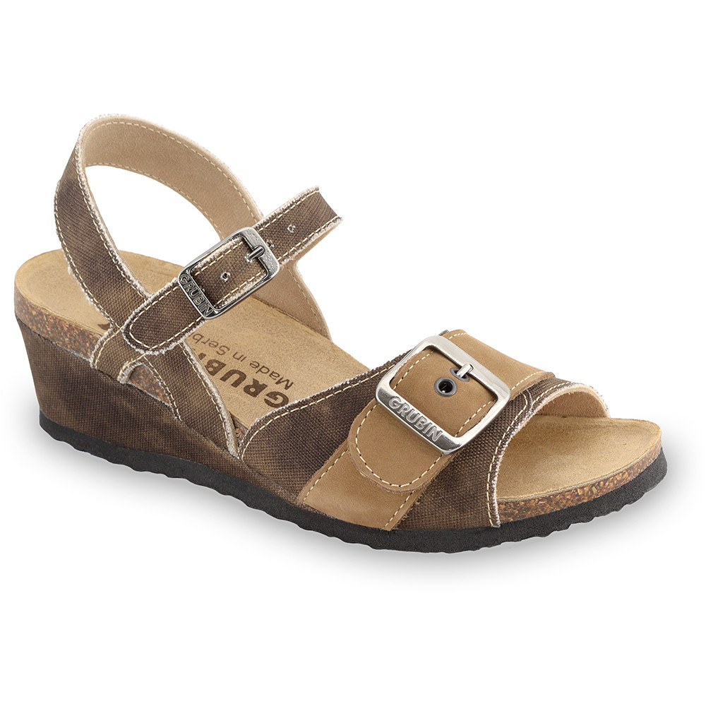 TIMEA sandále pre dámy - tkanina (36-42) - hnedá, 42