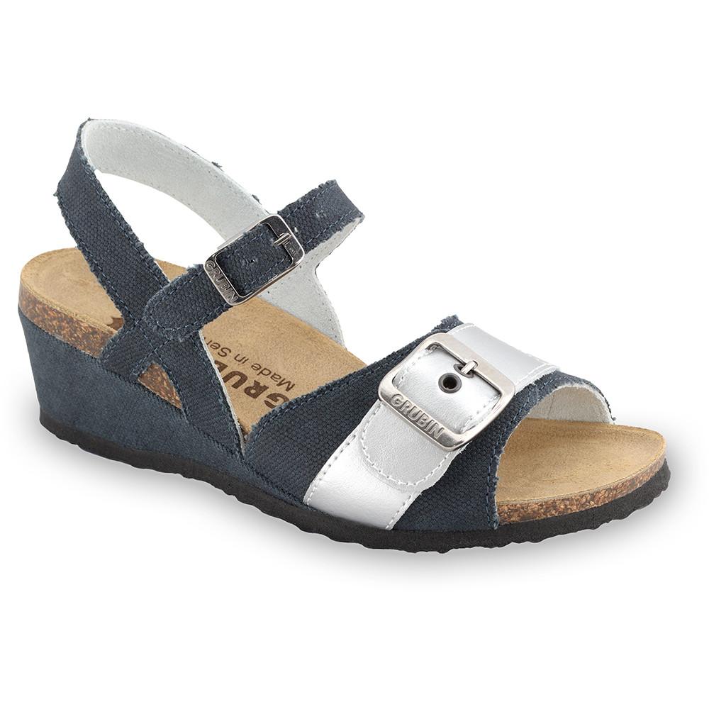 TIMEA sandále pre dámy - tkanina (36-42) - čierna so vzorom, 38