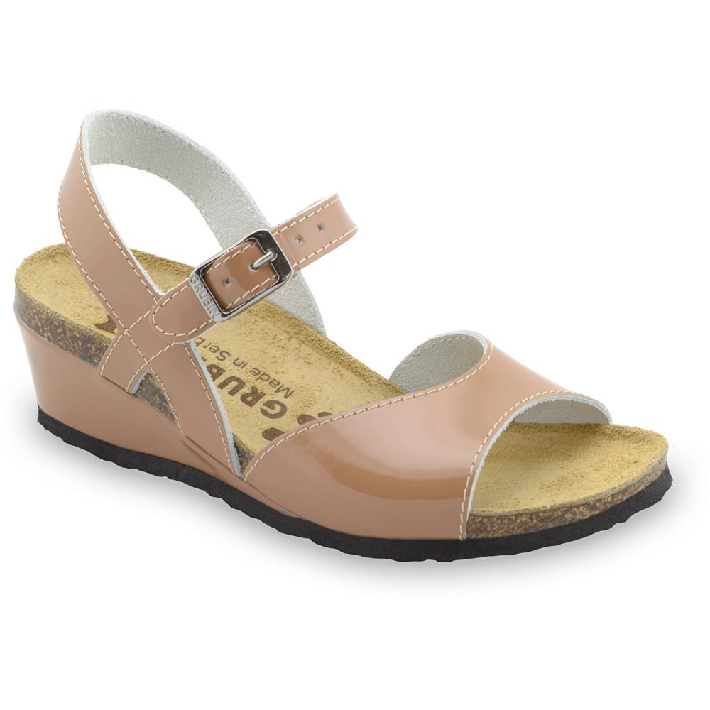HALDEJA sandále pre dámy - koža (36-42) - hnedá, 36