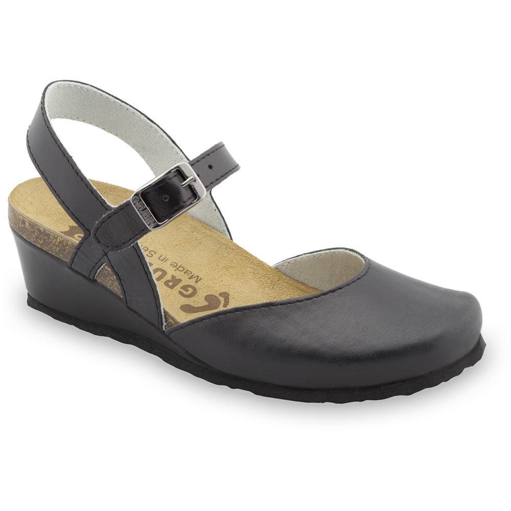 FELIKS sandále pre dámy - koža (36-42) - čierna, 36