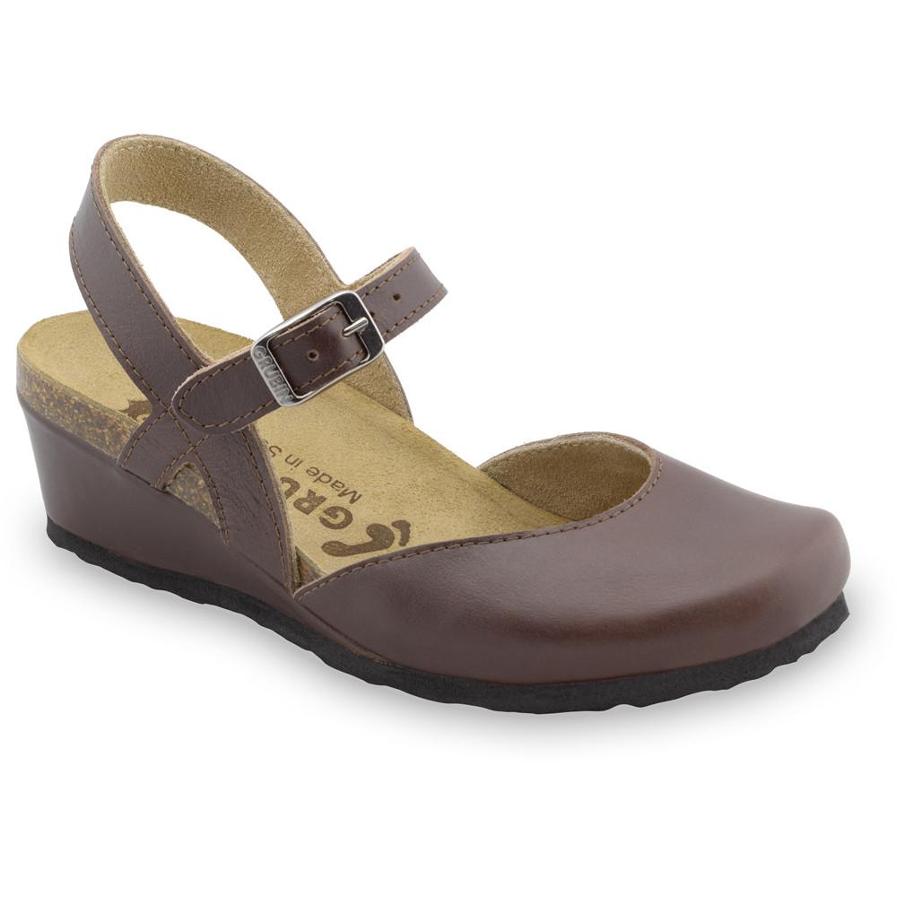 FELIKS sandále pre dámy - koža (36-42) - hnedá, 42