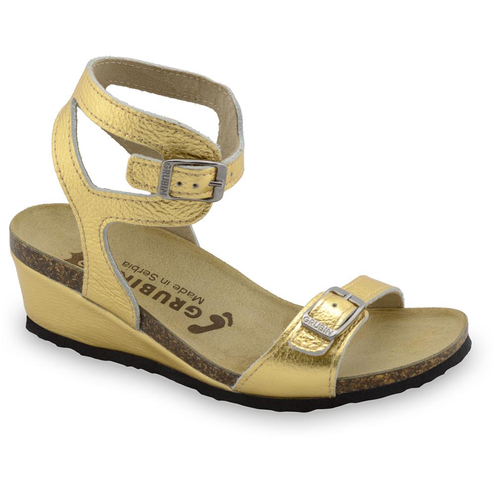 VENUS sandále pre dámy - koža (36-42) - zlatá, 37