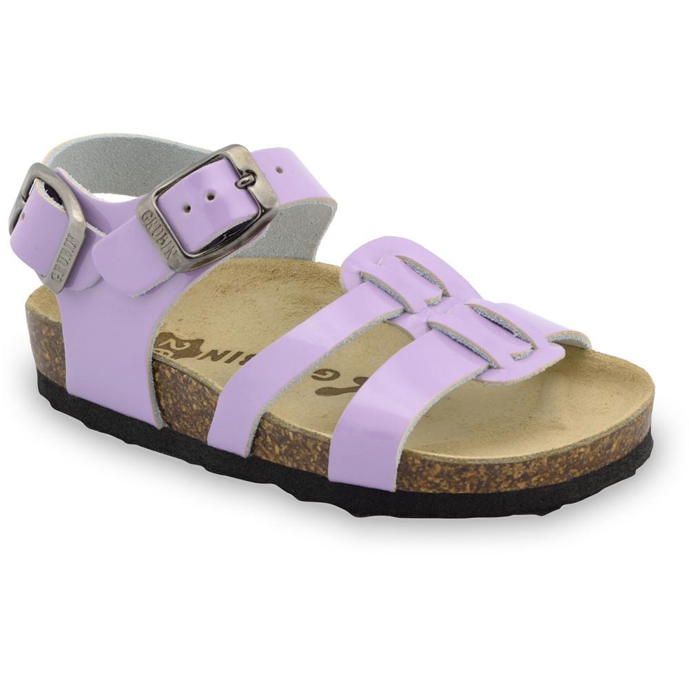 HRONOS sandále pre deti - koža (23-29) - fialová, 27