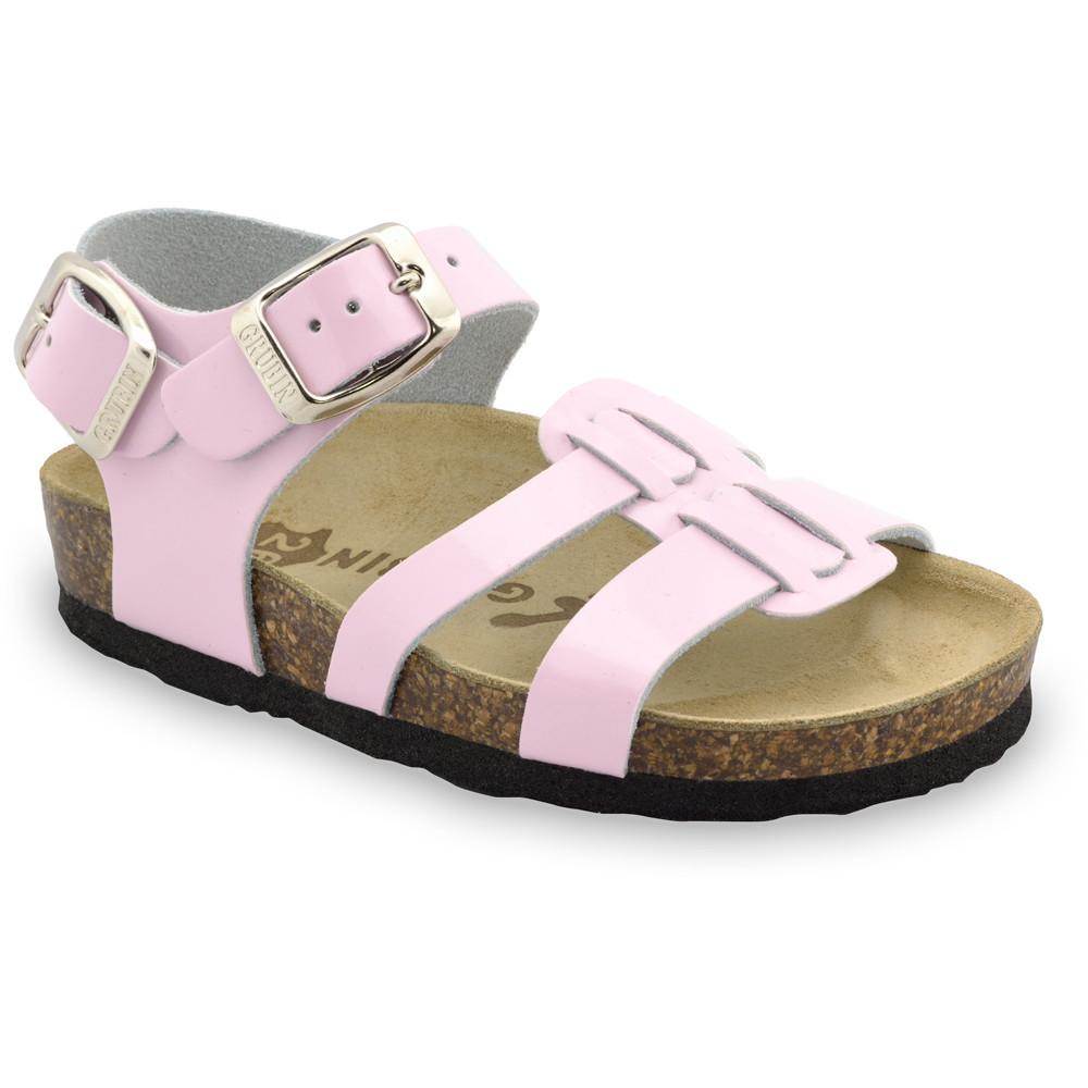 HRONOS sandále pre deti - koža (23-29) - ružová, 23