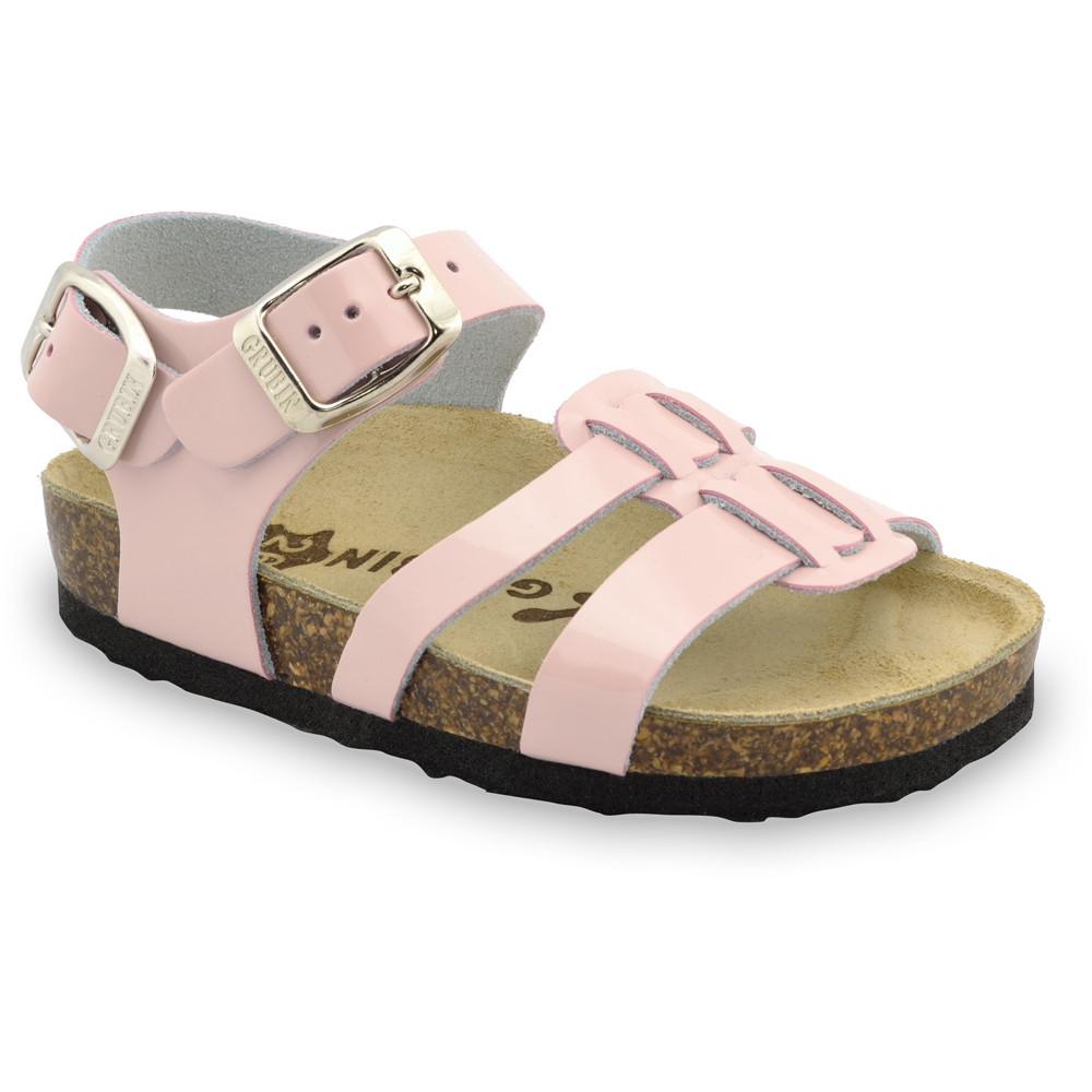 HRONOS sandále pre deti - koža (23-29) - krémová, 23