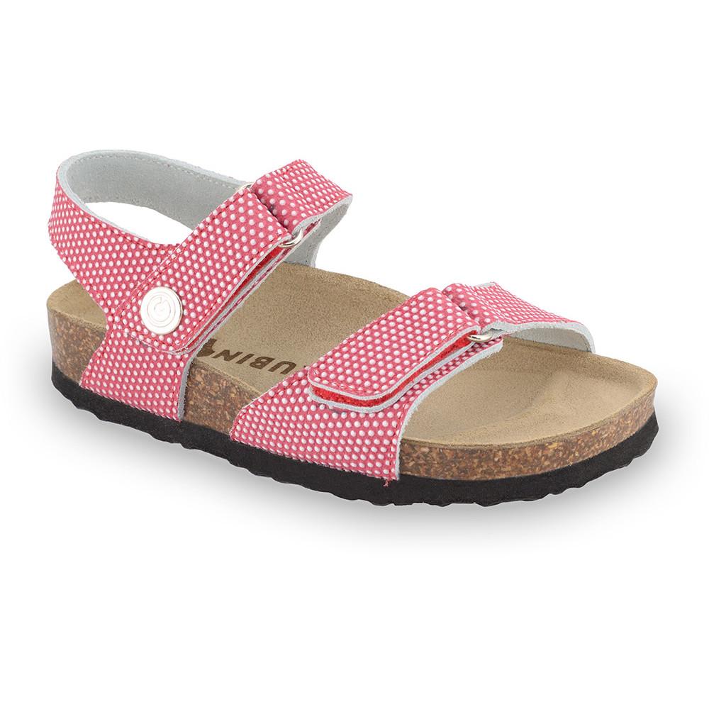 RAFAELO sandále pre deti - koža kast (23-29) - červená, 23