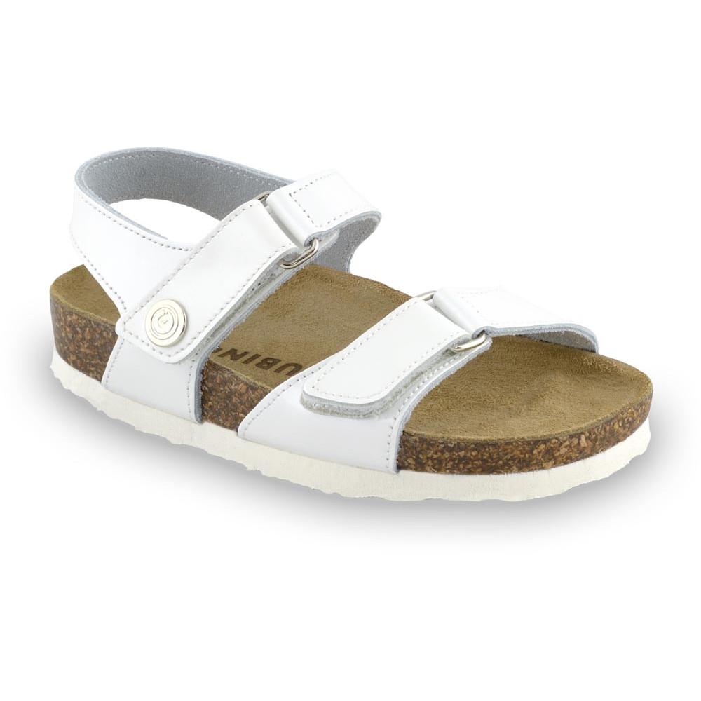 RAFAELO sandále pre deti - koža (30-35) - biela, 34