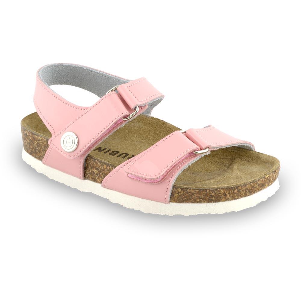 RAFAELO sandále pre deti - koža (30-35) - svetloružová, 34