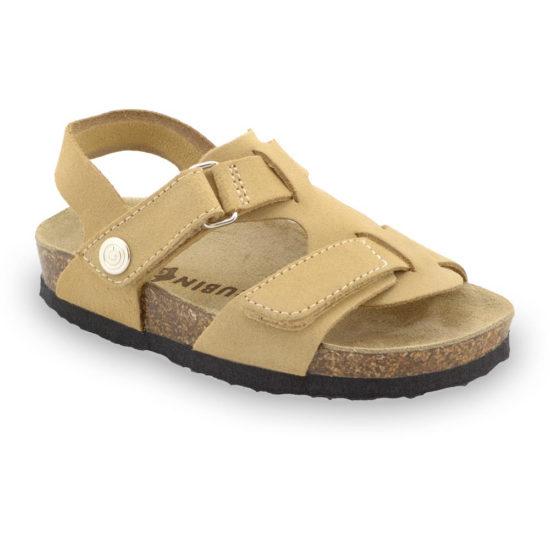 ROTONDA Kožené detské sandále-velúr (23-29)