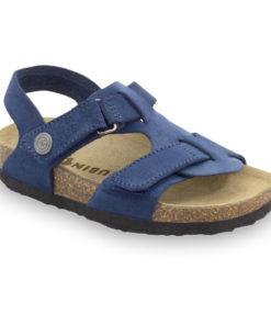 ROTONDA Kožené detské sandále-velúr (30-35)