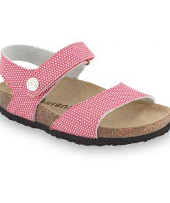 LEONARDO sandále pre deti - koža kast (23-29)