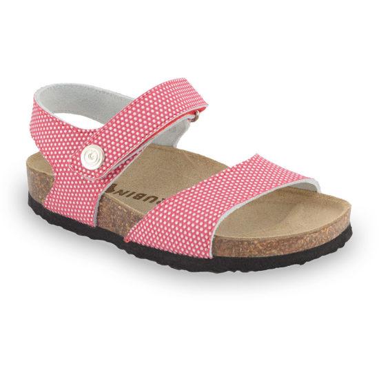 LEONARDO sandále pre deti - koža kast (30-35)