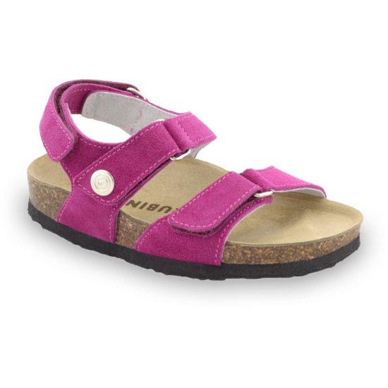 DONATELO sandále pre deti - semišová koža (23-29)