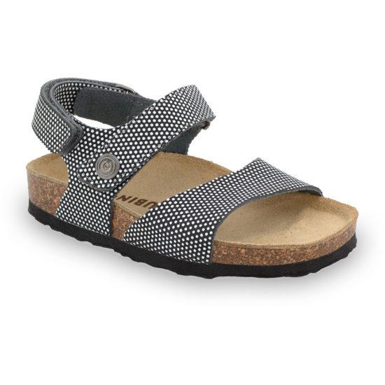 EJPRIL sandále pre deti - koža kast (23-29)