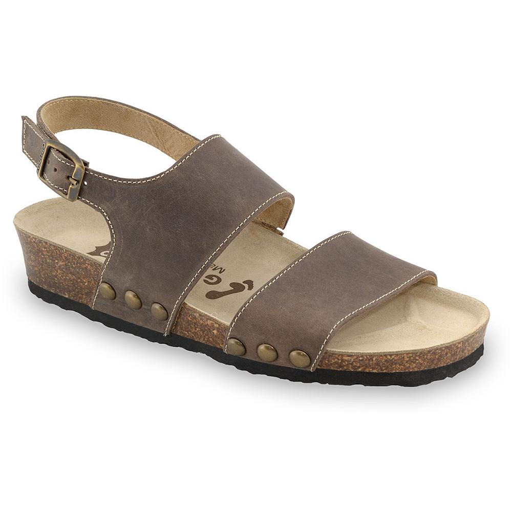 CHARLOTTE sandále pre dámy - koža (36-42) - hnedá, 40