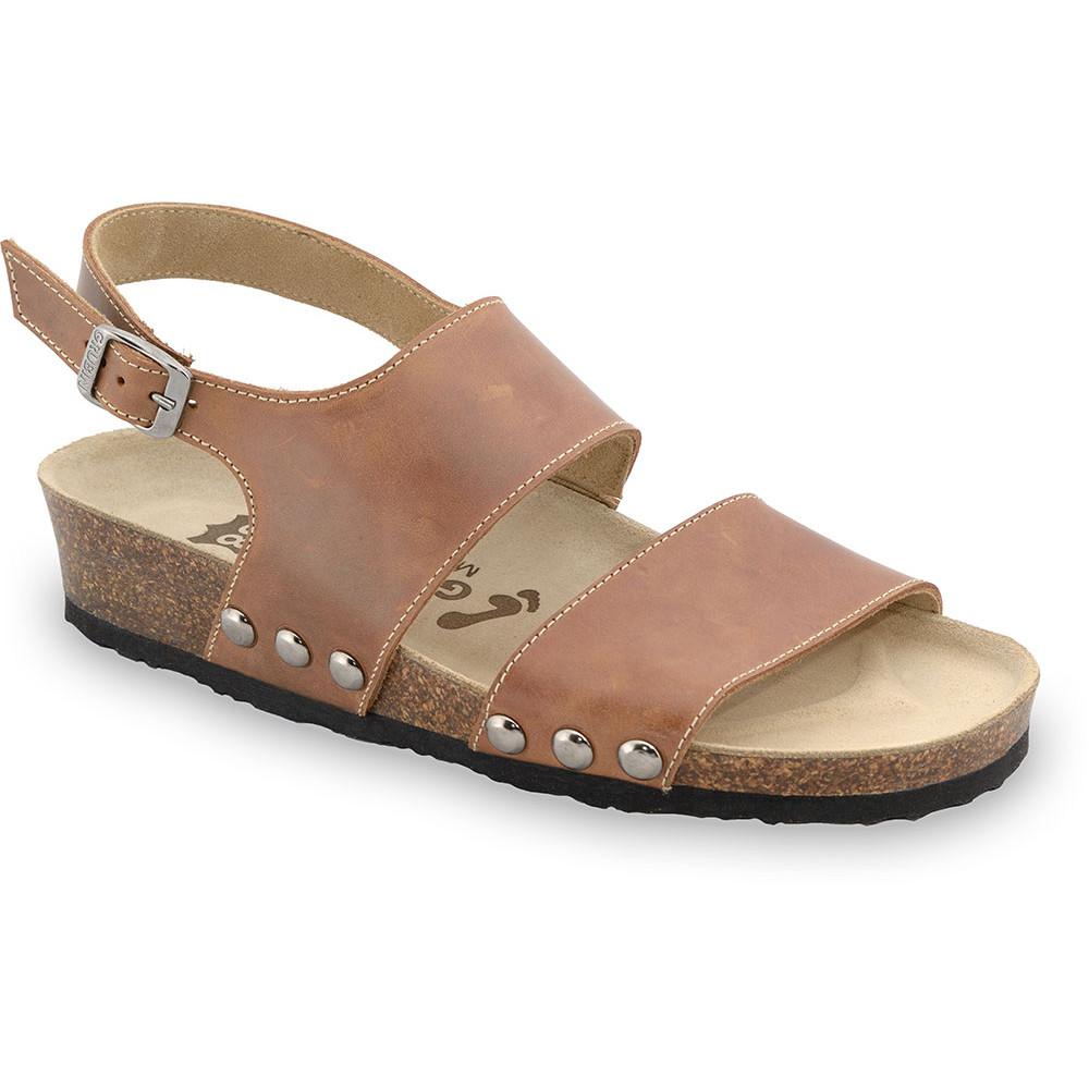 CHARLOTTE sandále pre dámy - koža (36-42) - svetlohnedá, 40