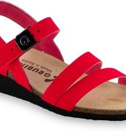 LUCCA   červená   anatomická obuv Grubin   sandále pre dámy