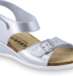 MANAMA   dámske anatomické sandále   strieborné